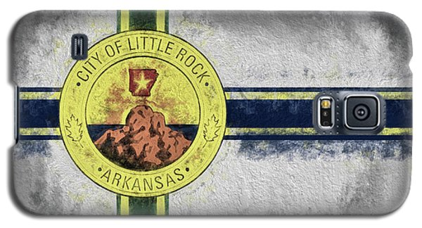 Galaxy S5 Case featuring the digital art Little Rock City Flag by JC Findley