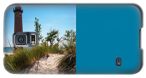 Little Sable Light Station - Film Scan Galaxy S5 Case by Larry Carr