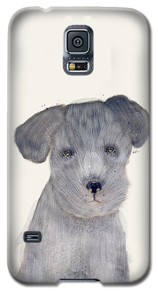 Galaxy S5 Case featuring the painting Little Schnauzer by Bri B