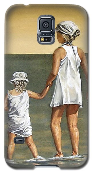 Galaxy S5 Case featuring the painting Little Sisters by Natalia Tejera