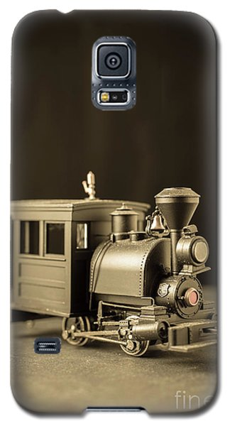 Galaxy S5 Case featuring the photograph Little Steam Locomotive by Edward Fielding