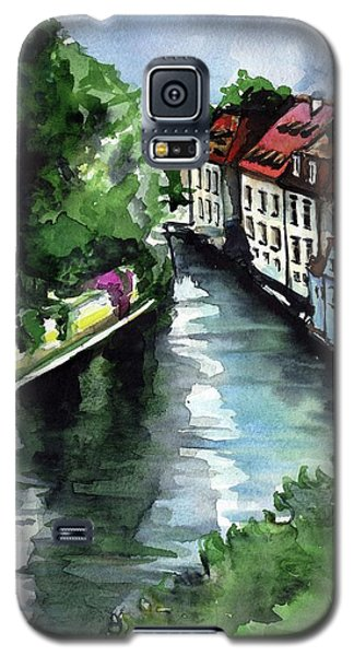 Galaxy S5 Case featuring the painting Little Venice In Prague Certovka Canal by Dora Hathazi Mendes