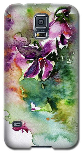Galaxy S5 Case featuring the painting Little Violet by Kovacs Anna Brigitta