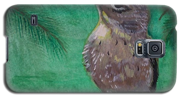 Galaxy S5 Case featuring the painting Little Warbler by Leslie Allen