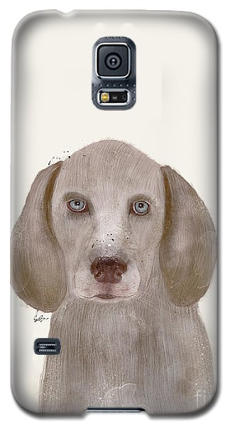 Galaxy S5 Case featuring the painting little Weimaraner by Bri B