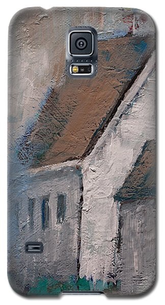 Little White Church On The Corner Christian Painting  Galaxy S5 Case