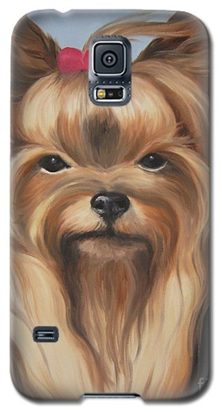 Galaxy S5 Case featuring the painting Little Yorkshire Princess by Jindra Noewi
