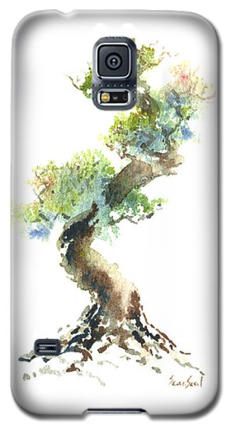Galaxy S5 Case featuring the painting Little Zen Tree 1692 by Sean Seal