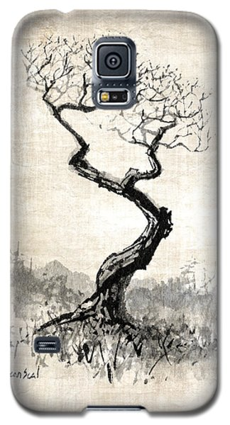 Galaxy S5 Case featuring the painting Little Zen Tree 1820 by Sean Seal