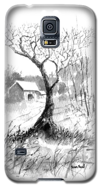 Galaxy S5 Case featuring the painting Little Zen Tree 1832 by Sean Seal