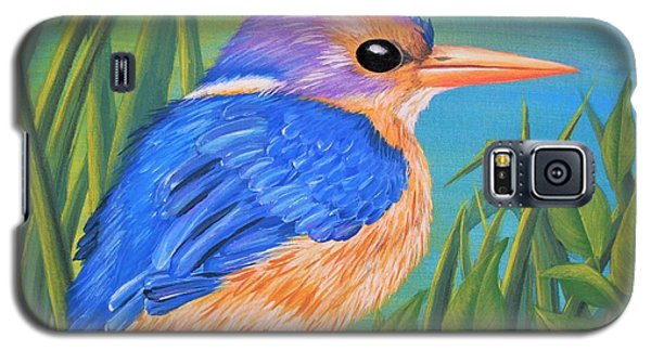 Galaxy S5 Case featuring the painting Litttle King Of The Fishers by Sophia Schmierer