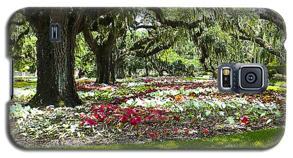 Galaxy S5 Case featuring the photograph Live Oaks At Brookgreen Gardens by Bill Barber