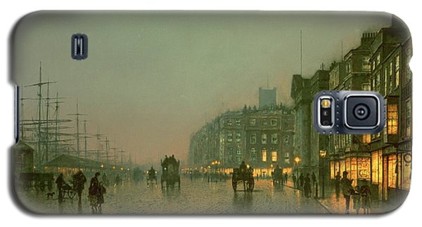 Liverpool Docks From Wapping Galaxy S5 Case by John Atkinson Grimshaw