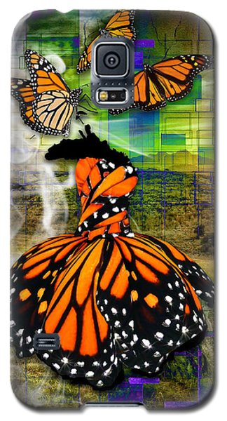 Galaxy S5 Case featuring the mixed media Living One's Destiny by Marvin Blaine
