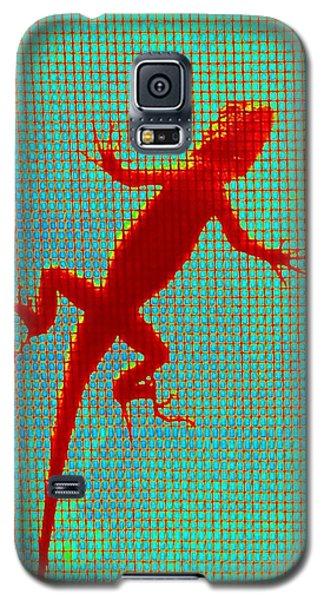Lizard On The Screen Galaxy S5 Case