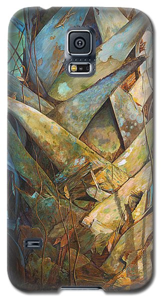 Galaxy S5 Case featuring the painting Lizards And Boots by AnnaJo Vahle