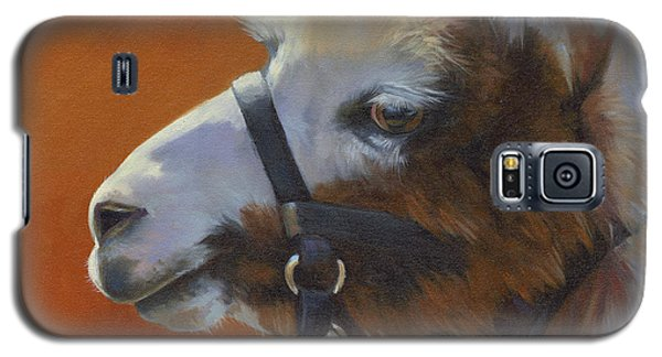 Galaxy S5 Case featuring the painting Llama Love by Alecia Underhill