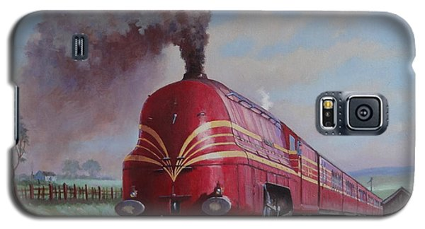 Galaxy S5 Case featuring the painting Lms Stanier Pacific by Mike  Jeffries