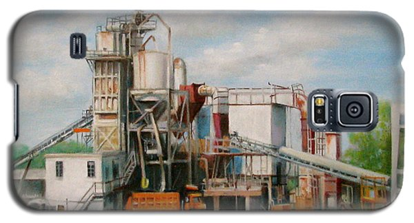 Galaxy S5 Case featuring the painting Load  The Big Orange Truck by Oz Freedgood