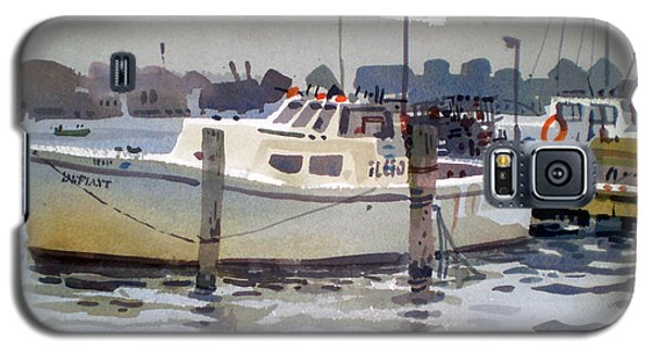 Lobster Boats In Shark River Galaxy S5 Case