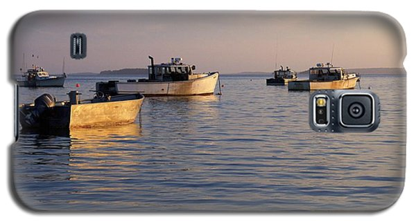 Galaxy S5 Case featuring the photograph Lobster Boats Off Harpswell Maine by Colleen Williams
