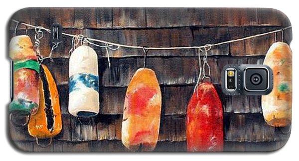 Lobster Buoys, Nova Scotia Galaxy S5 Case by Anna-maria Dickinson