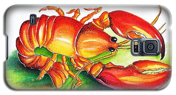 Galaxy S5 Case featuring the painting Lobster by Patricia Piffath