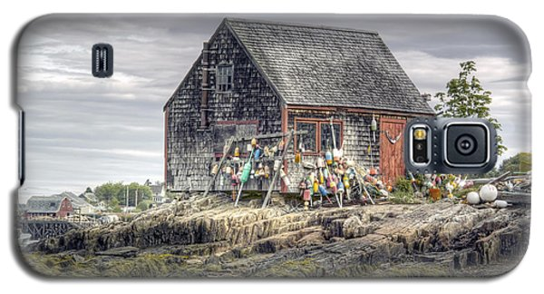 Galaxy S5 Case featuring the photograph Lobsterman's Shack Of Mackerel Cove by Richard Bean