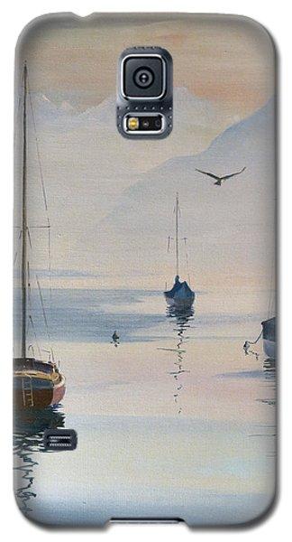 Locarno Boats In February-2 Galaxy S5 Case