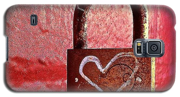 Colorful Galaxy S5 Case - Lock/heart by Julie Gebhardt