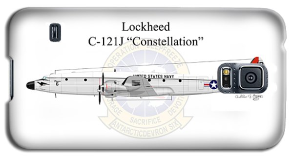 Galaxy S5 Case featuring the digital art Lockheed C-121j Constellation by Arthur Eggers