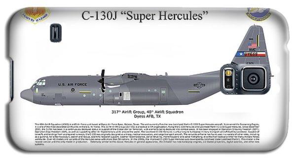 Galaxy S5 Case featuring the digital art Lockheed Martin C-130j-30 Super Hercules by Arthur Eggers