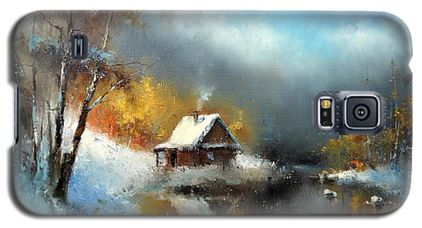 Lodge In The Winter Forest Galaxy S5 Case