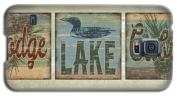 Lodge Lake Cabin Sign Galaxy S5 Case by Joe Low