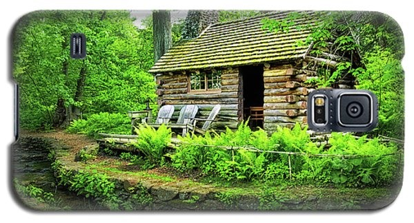 Log Cabin At Morris Arboretum Galaxy S5 Case