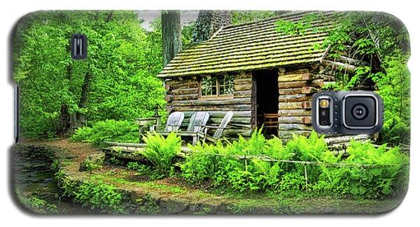 Log Cabin At Morris Arboretum Galaxy S5 Case