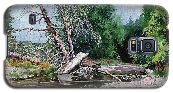 Log Jam Galaxy S5 Case by Donald Maier