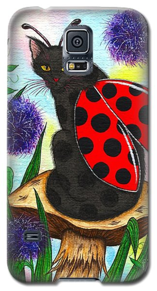 Logan Ladybug Fairy Cat Galaxy S5 Case by Carrie Hawks