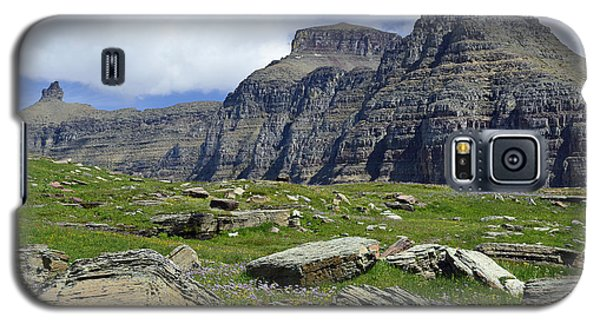 Logan Pass Meadow And Mountains In Glacier National Park Galaxy S5 Case