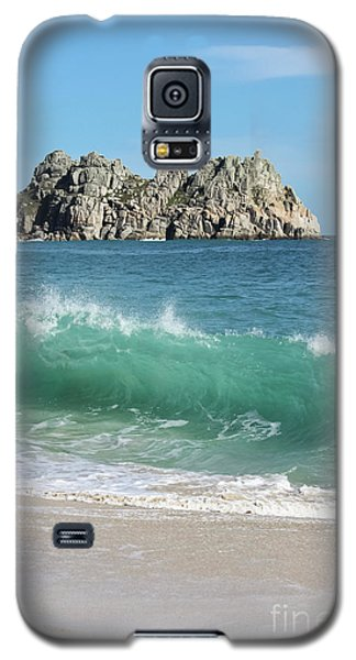 Galaxy S5 Case featuring the photograph Logan Rock Porthcurno Cornwall by Terri Waters
