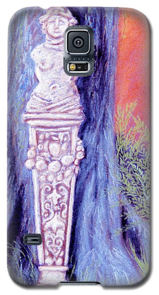 Galaxy S5 Case featuring the pastel Lola Lady Of Stone by Jan Amiss