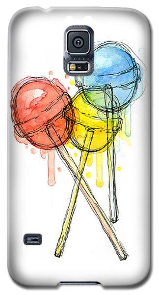Watercolor Galaxy S5 Case - Lollipop Candy Watercolor by Olga Shvartsur