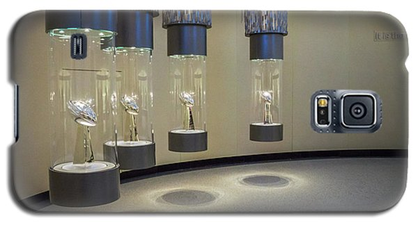 Galaxy S5 Case featuring the photograph Lombardi Trophy Lineup At Packers Hall Of Fame by Bill Pevlor