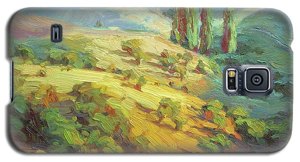 Impressionism Galaxy S5 Case - Lombardy Homestead by Steve Henderson