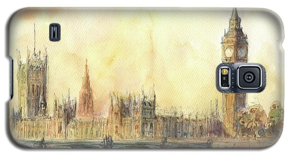 London Big Ben And Thames River Galaxy S5 Case by Juan Bosco