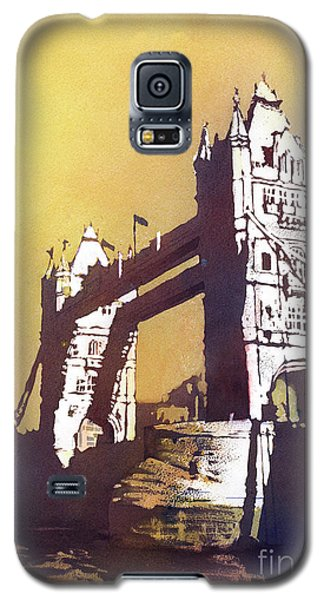 Galaxy S5 Case featuring the painting London Bridge- Uk by Ryan Fox