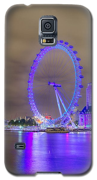 London Cityscape At Night 5x7 Galaxy S5 Case