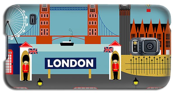 London England Horizontal Scene - Collage Galaxy S5 Case