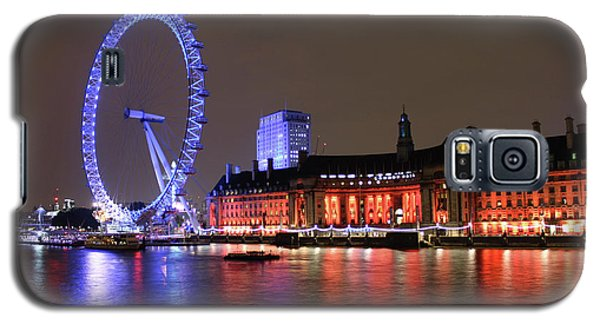 London Eye By Night Galaxy S5 Case by RKAB Works