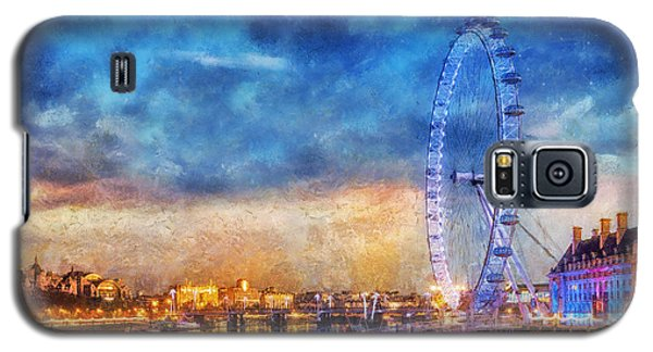 Galaxy S5 Case featuring the photograph London Eye by Ian Mitchell